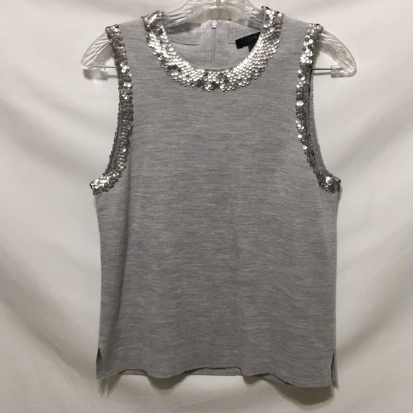 J. Crew Tops - J Crew sequin shell top